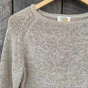 Talbots cotton blend crew neck sweater